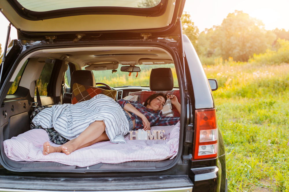 can you sleep in your car at campsites