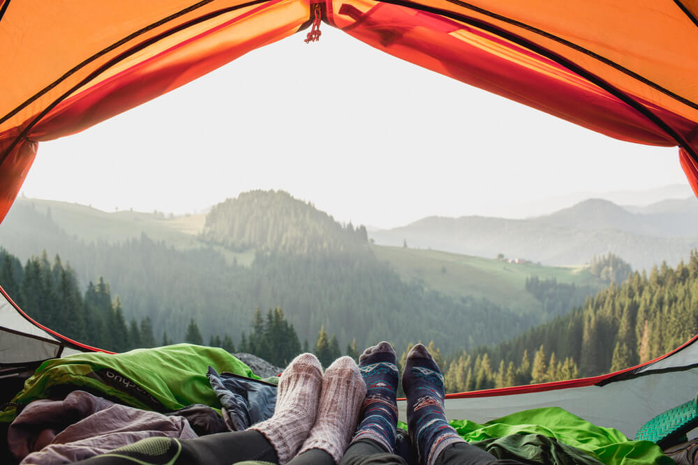 chilly morning in tent