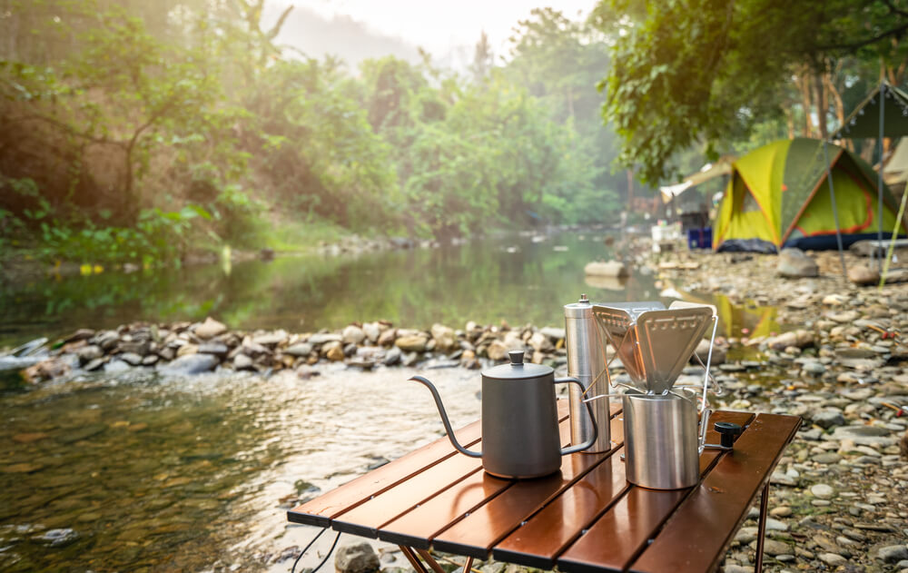 coffee drip while camping